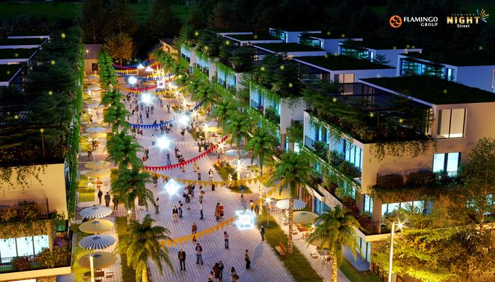 Shophouse Garden – Điểm nhấn ấn tượng của dự án Flamingo Night Street thu hút giới đầu tư