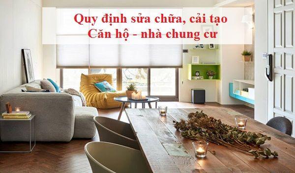 Tại sao khi cư dân sửa nhà cần phải báo cho ban quản lý nhà chung cư ?
